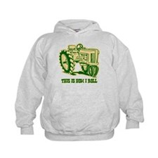 This Is How I Roll Tractor GRN Hoodie