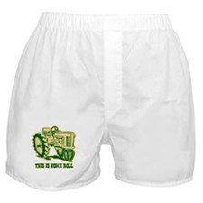 This Is How I Roll Tractor GRN Boxer Shorts