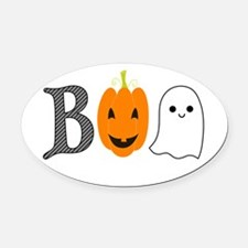 Boo Oval Car Magnet