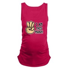 This Many 3 Maternity Tank Top
