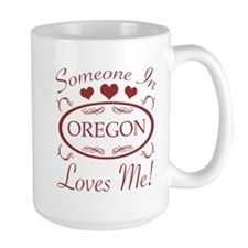 Somebody In Oregon Loves Me Mugs