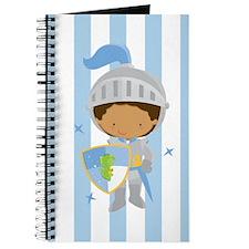 Knight Boy Blue Striped Journal