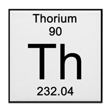 Periodic Table Thorium Tile Coaster