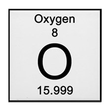 Periodic Table Oxygen Tile Coaster