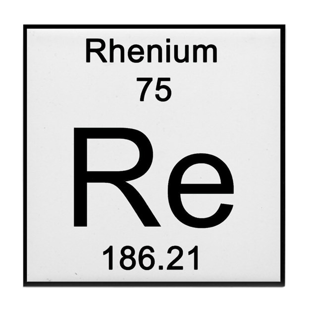 Periodic Table Rhenium Tile Coaster by Science_Lady