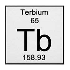 Periodic Table Terbium Tile Coaster