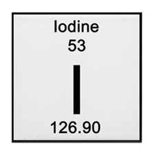 Periodic Table Iodine Tile Coaster