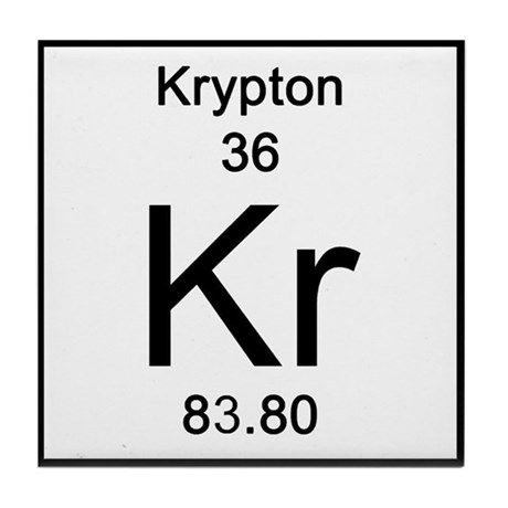 Periodic Table Krypton Tile Coaster By Science Lady