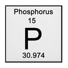Periodic Table Phosphorus Tile Coaster
