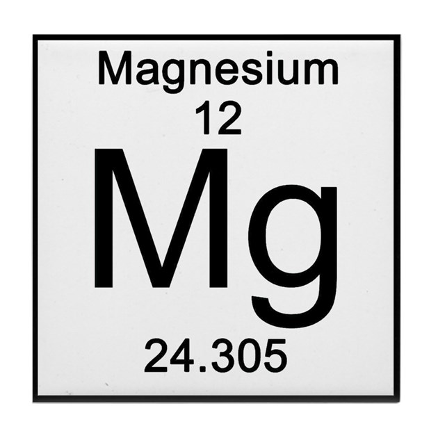 Periodic Table Magnesium Tile Coaster By Science Lady