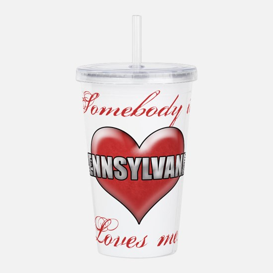 Somebody In Pennsylvan Acrylic Double-wall Tumbler