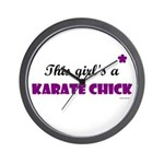 This Girl's A Karate Chick (Grape) Wall Clock