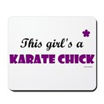 This Girl's A Karate Chick (Grape) Mousepad