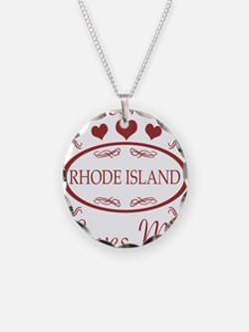 Somebody In Rhode Island Lov Necklace