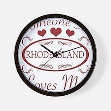 Somebody In Rhode Island Loves Me Wall Clock