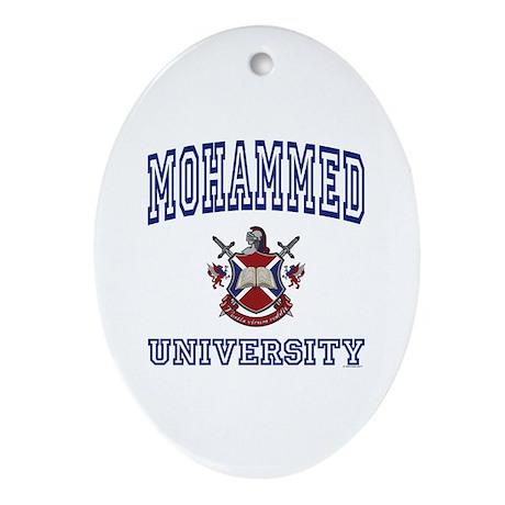 MOHAMMED University Oval Ornament