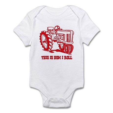 This Is How I Roll Tractor RED Infant Bodysuit