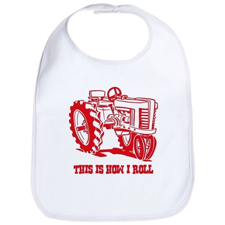 This Is How I Roll Tractor RED Bib