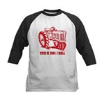 This Is How I Roll Tractor RED Kids Baseball Jerse