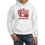 This Is How I Roll Tractor RED Hooded Sweatshirt