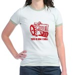 This Is How I Roll Tractor RED Jr. Ringer T-Shirt
