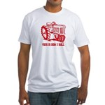This Is How I Roll Tractor RED Fitted T-Shirt