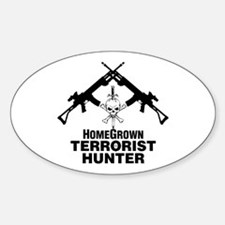Homegrown Terrorist Oval Decal