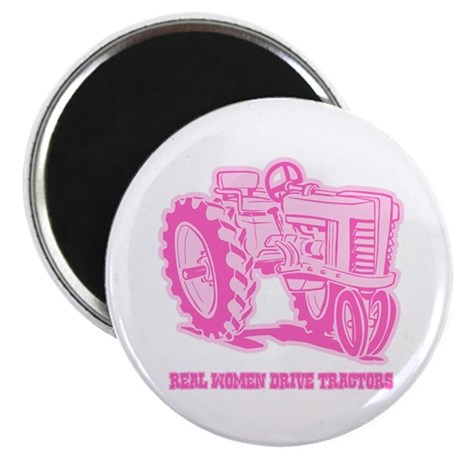 Real Women Drive Tractors Magnet