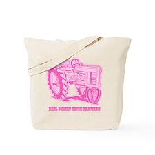 Real Women Drive Tractors Tote Bag