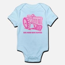 Real Women Drive Tractors Infant Bodysuit