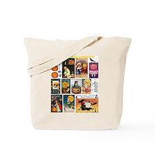 Halloween Vintage Greeting Card Collage Tote Bag