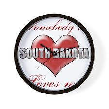 Somebody In South Dakota Loves Me Wall Clock