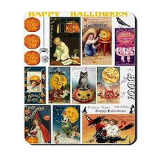 Halloween Vintage Greeting Card Collage Mousepad