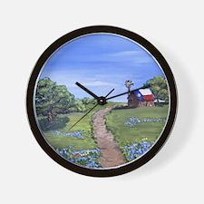 Texas Trail Wall Clock
