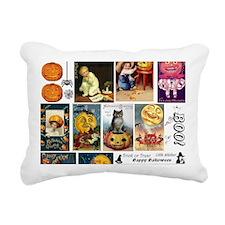 Halloween Vintage Greeti Rectangular Canvas Pillow