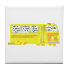 WELL Words Bus Tile Coaster
