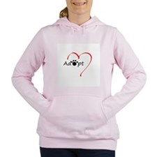 Cute Adopt a dog Women's Hooded Sweatshirt