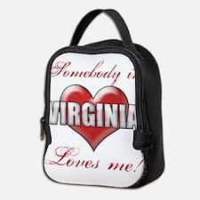Somebody In Virginia Loves Me Neoprene Lunch Bag
