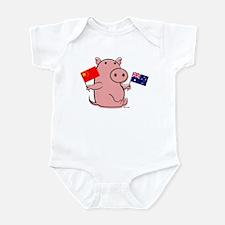 AUSTRALIA AND CHINA Infant Bodysuit