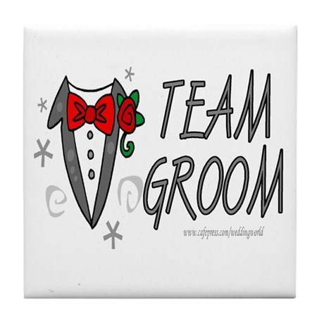 Team Groom Tile Coaster