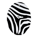 Zebra Ornament (Oval)