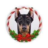 Doberman christmas ornaments Round Ornaments
