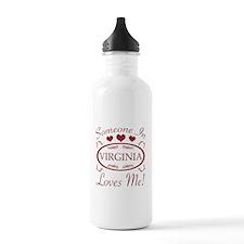 Somebody In Virginia L Water Bottle