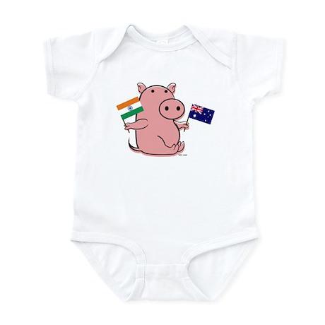AUSTRALIA AND INDIA Infant Bodysuit