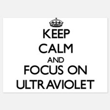 Keep Calm by focusing on Ultraviolet Invitations