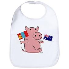 AUSTRALIA AND MONGOLIA Bib