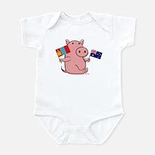 AUSTRALIA AND MONGOLIA Infant Bodysuit