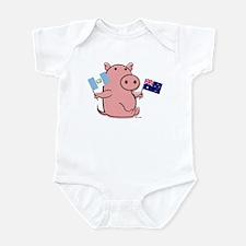 AUSTRALIA AND GUATEMALA Infant Bodysuit