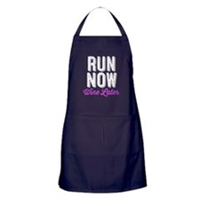 Run Now Wine Later Apron (dark)