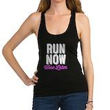 Run now wine later tank Racerback